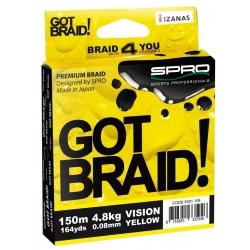 Plecionka SPRO Got Braid! - 0,08mm - 150m - żółta